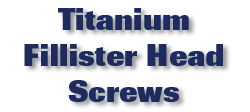 Titanium Fillister Head Screws