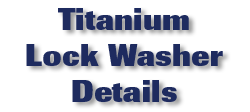 Titanium Lock Washer Details