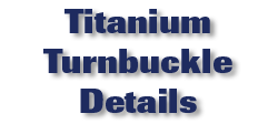 Titanium Turnbuckle Details