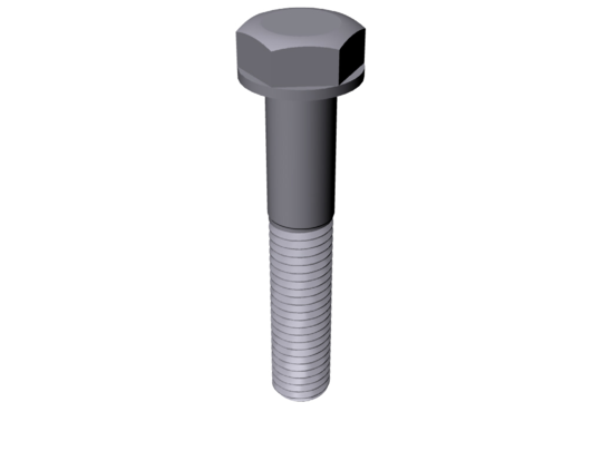 Titanium 5/8-11 X 3-1/2 UNC Allied Titanium Hex Head Flange Bolt (No Dimple), 1.355 Non-threaded